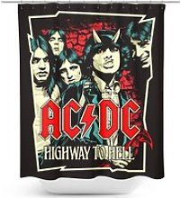 AC/DC Highway To Hell Shower Curtain multicolor