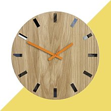 Acadia 33cm Silent Wall Clock Hashtag Home Colour: