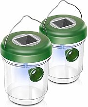ACAMPTAR 2PC LED Solar Powered Fly Trap Outdoor