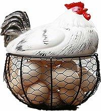 ACAMPTAR Ceramic Egg Holder Chicken Wire Egg