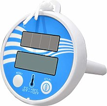 ACAMPTAR Solar Powered Digital Thermometer for