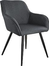 Accent Chair Marylin - dark grey/black