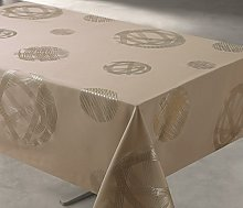 Access Deco Tablecloth, Polyester, taupe, 300 x