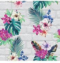 Accessorize Camden Brick Floral Wallpaper