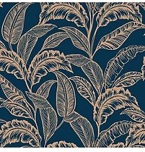 Accessorize Mozambique Wallpaper &Ndash; Navy/Gold
