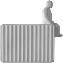 Accessory - / Man sitting - For Umarell wall light