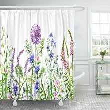 Accrocn Fabric Decorative Shower Curtain Curtains