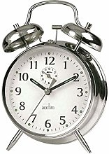 Acctim 12627 Saxon Alarm Clock, Chrome