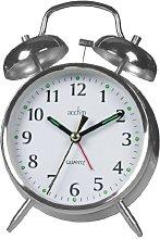Acctim 12997 Saxon Quartz Alarm Clock, Chrome