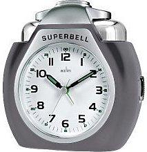 Acctim 13977 Superbell Alarm Clock, Titanium by