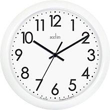 Acctim 21892 Abingdon White Wall Clock 255mm