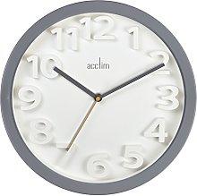 Acctim 21997 Logann Contemporary Wall Clock, Grey