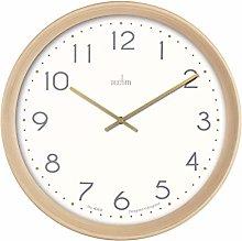 Acctim 22672 Upsilon quartz wall clock with wood