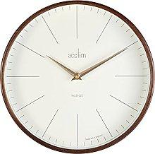 Acctim 25016 Bonde Dark Wood Wall Clock