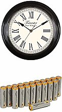 Acctim 26703 Redbourn Wall Clock, Black with