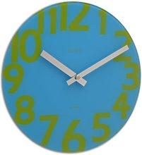 Acctim 27399 Rio Wall Clock, Aqua Blue