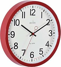 Acctim 27814 Kempston Wall Clock, Cinema Red