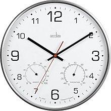 Acctim 29147 Komfort Metal Non Ticking Wall Clock