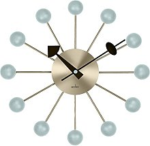 Acctim 29209 Meta Spoke Wall Clock in Brass/Haze