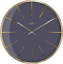 Acctim 29433 Luxe Domed Dark Marble Wall Clock