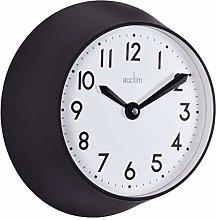 Acctim 29553 Wixham quartz wall clock in black