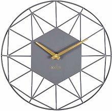 Acctim 29577 Alva quartz wall clock with Grey Owl