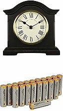 Acctim 33283 Falkenburg Mantel Clock, Black with