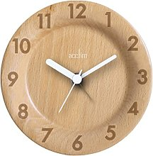 Acctim 33781 Epping Round Wooden Table Clock in