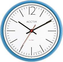Acctim Alderton Blue Retro metal 24cm wall clock, 1