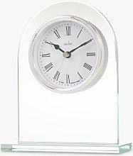 Acctim Ascott Glass Mantel Clock, Clear/Chrome,