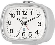 Acctim Camille Analogue Alarm Clock, Soft Grey