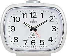 Acctim Camille Pearl Alarm Clock - White