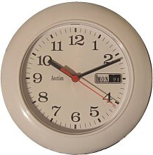 Acctim Date Minder 29484 Round Clock - White