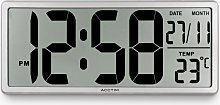 Acctim Datekeeper LCD Digital Wall Alarm Clock,