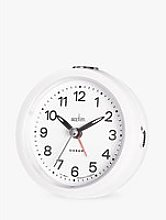 Acctim Elana Silent Sweep Analogue Alarm Clock,