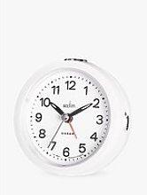Acctim Elana Sweep Analogue Alarm Clock, White