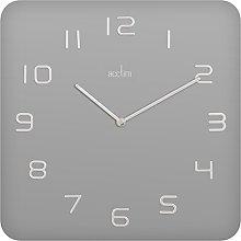 Acctim Glass Kiel Wall Clock - Silver