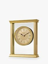 Acctim Halton Mantel Clock, 18cm, Gold
