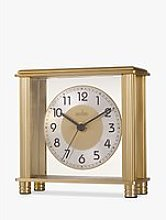 Acctim Hampden Mantel Clock, 14cm, Brass
