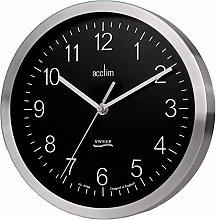 Acctim Kenton Aluminium Wall Clock with Black Dial