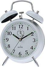 Acctim Large-Bell Alarm Clock - White