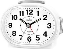Acctim Lila Sweep Analogue Alarm Clock, White