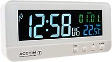 Acctim Radio Controlled LCD Digital Alarm Clock,