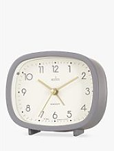 Acctim Ramsey Curved Analogue Alarm Clock, Grey
