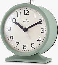 Acctim Round Analogue Alarm Clock, 10cm, Clover