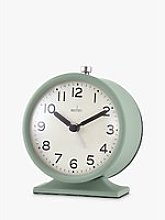 Acctim Round Analogue Alarm Clock, 10cm, Clover