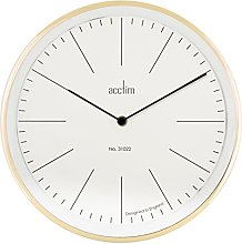 Acctim Soho Metal Wall Clock in Brass with Glass