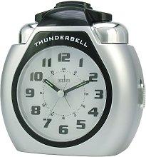 Acctim Thunderbell Alarm Clock, Silver