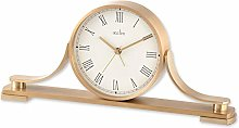 Acctim Wardley 37118 Brass Effect Metal Table Clock