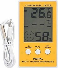 Accurate Electronic Hygrometer, Yellow Thermometer